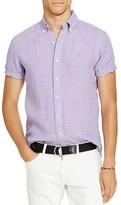 Polo Ralph Lauren Checked Linen Classic Fit Button Down Sport Shirt