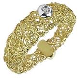 Orlando Orlandini Arianna - 18K Gold Ring w/ Round Diamond
