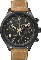 Timex IQ Classic Mens Tan Leather Strap Chronograph Watch T2N700AB