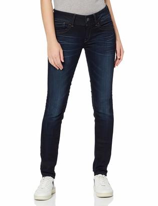 G Star Women's Lynn Mid Skinny Slander Blue Super Stretch Medium Aged Jean 29/32