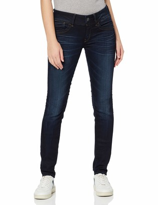 G Star Women's Lynn Mid Skinny Slander Blue Super Stretch Medium Aged Jean 32/32