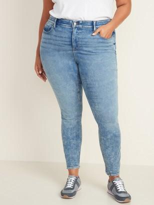 Old Navy High-Waisted Secret-Slim Pockets + Waistband Built-In Warm Rockstar Plus-Size Jeans