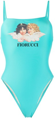 Fiorucci Angels graphic-print swimsuit