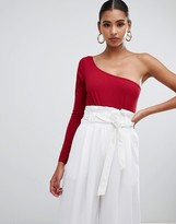 In The Style crepe one shoulder body