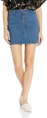 Finders Keepers findersKEEPERS Women's Slide Casual Basic Classic Denim Skirt
