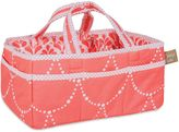 Trend Lab Shell Storage Caddy in Coral/White