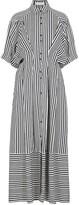 Palmer Harding Palmer/Harding Palmer//harding Sunda Striped Twill Shirt Dress