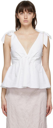 Brock Collection White Ribes Tank Top