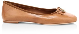 Tory Burch Tory Charm Leather Ballet Flats