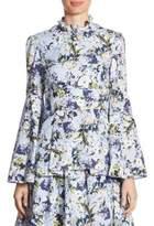 Erdem Miriam Floral-Print Top