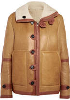 Joseph Witham Reversible Oversized Shearling Jacket - Brown
