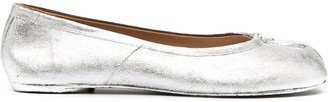 Maison Margiela Metallic Tabi Ballet Shoes