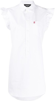 DSQUARED2 embroidered logo sleeveless dress