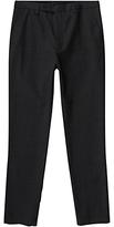 Jigsaw Italian Melange Cotton Trousers, Charcoal