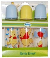 Disney Winnie the Pooh Boys and Girls Bottle 3 Pack (BLUE) by