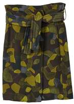 MANGO Belt camo skirt