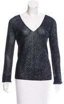 Ralph Lauren Black Label Embellished Long Sleeve Top