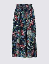 M&S Collection Floral Print Midi Skirt
