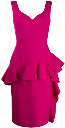 Alexander McQueen peplum midi dress
