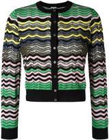 M Missoni striped buttoned cardigan - women - Cotton/Acrylic/Polyamide/Wool - 40