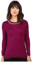 Ivanka Trump Jewel Neck Sweater