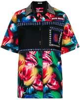 Miu Miu embellished floral print shirt