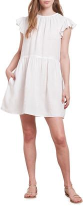 Velvet Evonne Flutter-Sleeve Dress