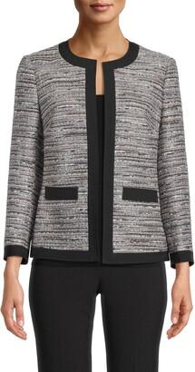 Anne Klein Framed Tweed Jacket