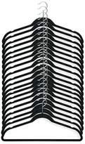 Honey-Can-Do Black Velvet Touch Suit Hangers - Pack of 20