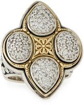 Konstantino Pavé Diamond Clover Ring, Size 7