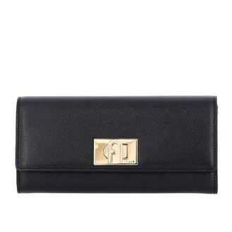 Furla Wallet In Textured Leather With Turnstile Hook