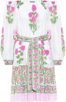 Juliet Dunn Floral cotton minidress