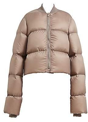 Rick Owens Women's Down-Fill Cropped Duvet Jacket