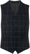 Caruso check tailored gilet jacket