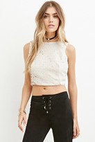 Forever 21 FOREVER 21+ Sequined Crop Top