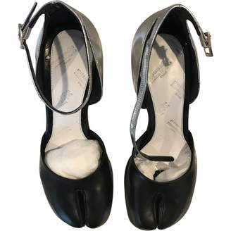 Maison Margiela Tabi Silver Leather Heels