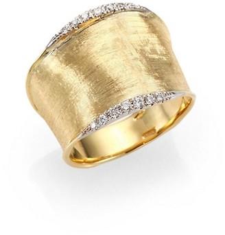 Marco Bicego Lunaria Diamond & 18K Yellow Gold Band Ring