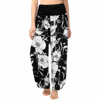 Momoxi 2019 Summer Trendy Popular Ladies Women's Leggings Pants Trousers Plus Size Print Ladies Harem Full Length Trouser Wide Leggings Leg Flare Wide High Regular Skinny Pedal Pushers Paper