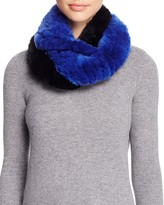 Surell Two-Tone Rabbit Fur Infinity Scarf - 100% Exclusive