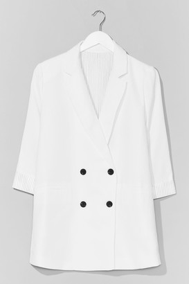 Nasty Gal Womens If It Suits You Double Breasted Blazer - White