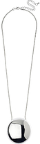 Adele Marie Large Round Pendant Necklace, Silver