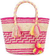 Yosuzi Simea woven tote with pouch - women - Straw - One Size