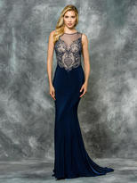 Colors Dress - 1710-1 Sleeveless Jersey Evening Gown