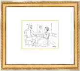 """Munn Works Pablo Picasso, """"Artist working from Model,"""" Framed Etching"""