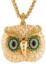 Kenneth Jay Lane Owl Pendant Necklace