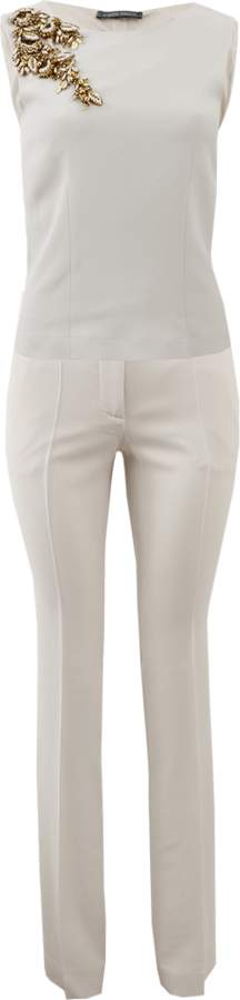 Alberta Ferretti Trouser With Embellished Top
