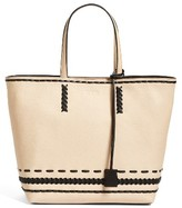 Tod's Medium Whipstitched Leather Tote - None