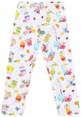MonnaLisa Printed stretch-cotton leggings