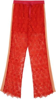 Pinko Noto Macrame-lace Trousers