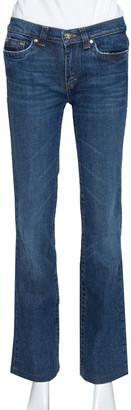 Roberto Cavalli Indigo Dark Wash Denim Faded Effect Jeans S